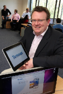 NovaUCD Incubator Companies Such as Tethras, the mobile app localiser service, will more than double in size over the next two years - pictured is Brian Farrell, founder and CEO of Tethras.
